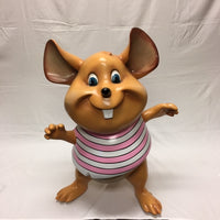 Mouse Comic Standing Pink Resin Statue Movie Prop Decor - LM Treasures Life Size Statues & Prop Rental