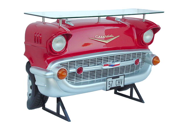 Red Chevy Bar Life Size Statue - LM Treasures