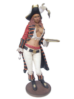 Lady Pirate Butler Life Size Statue - LM Treasures Life Size Statues & Prop Rental