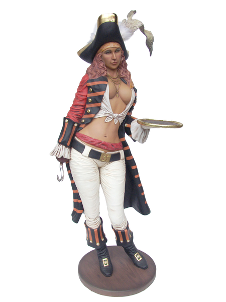 Lady Pirate Butler Life Size Statue - LM Treasures