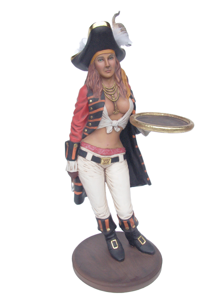 Lady Pirate Butler Small Statue - LM Treasures Life Size Statues & Prop Rental
