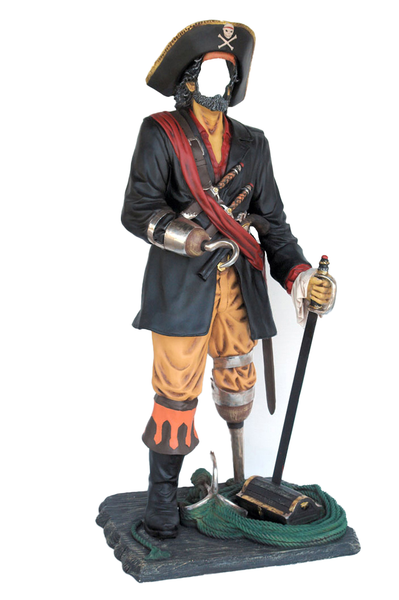 Pirate Captain Hook Photo Op Life Size Statue - LM Treasures Life Size Statues & Prop Rental