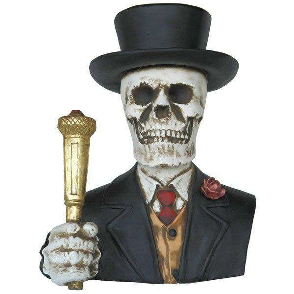 Skeleton  Bust Formal Prop Decor Halloween Statue - LM Treasures Life Size Statues & Prop Rental