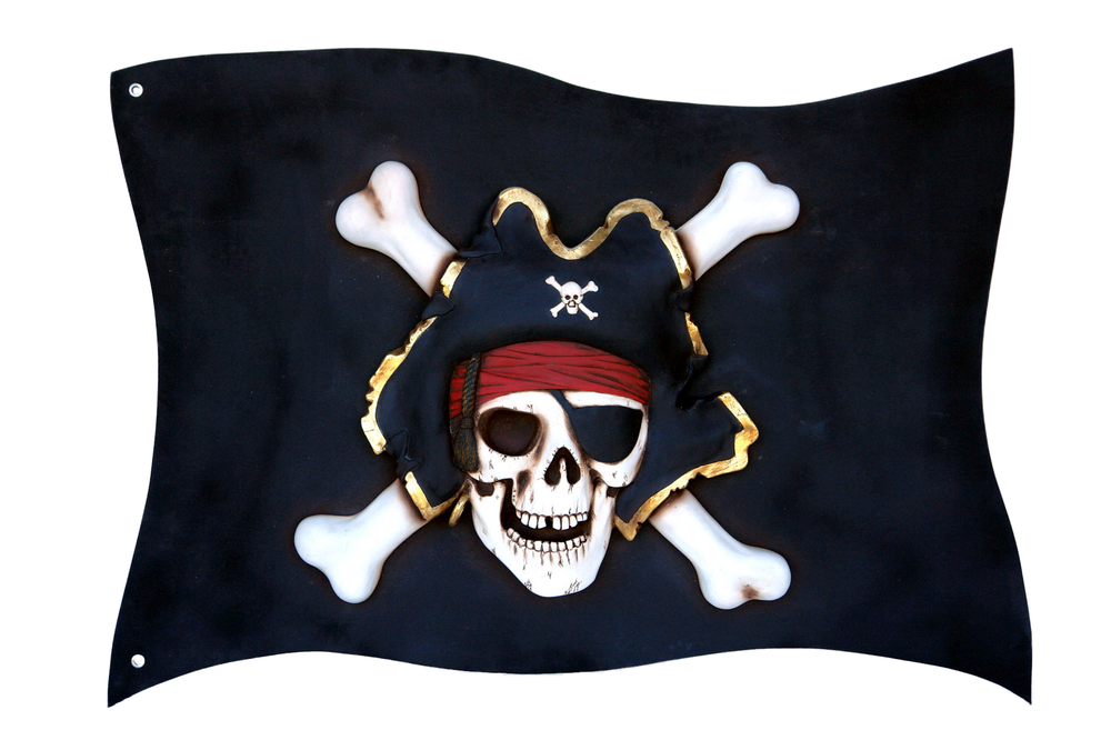Pirate Flag Over Sized Statue - LM Treasures