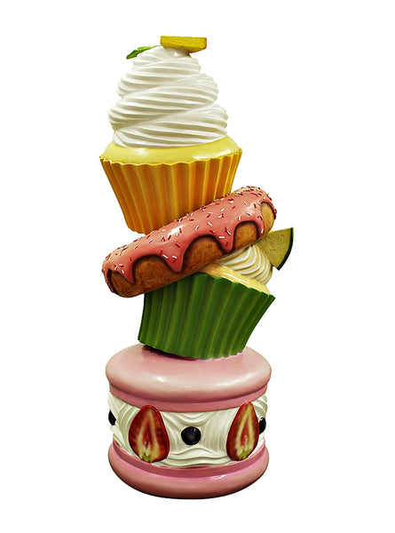 Cupcake Tower Over Sized Statue - LM Treasures Life Size Statues & Prop Rental