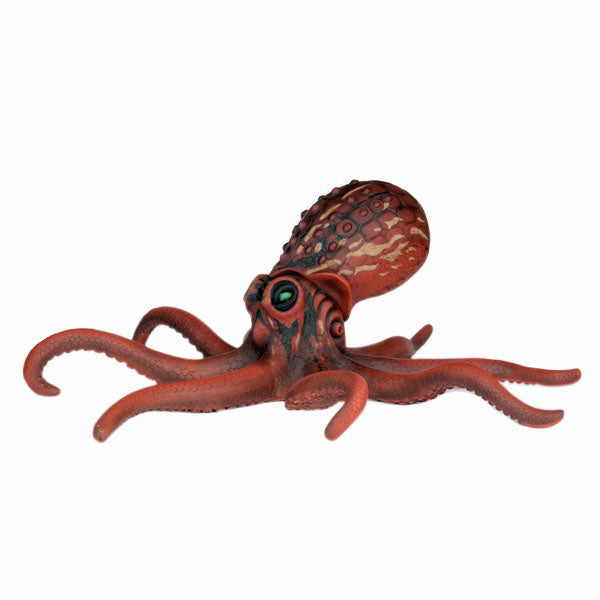 Red Octopus Life Size Statue - LM Treasures