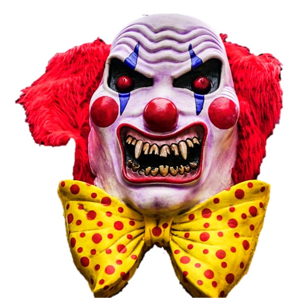 Scary Clown Head Over Sized Statue - LM Treasures Life Size Statues & Prop Rental
