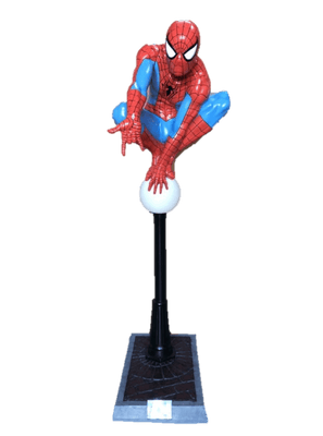 Spider Man on Light Post Life Size Statue w/ Working Light- LM Treasures