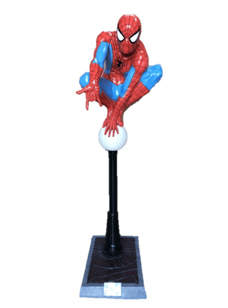 Spider Man on Light Post Life Size Statue w/ Working Light Rubie's - LM Treasures Life Size Statues & Prop Rental