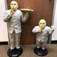 Celebrity Austin Powers Baldy Dr. Evil 3ft Butler Movie Hollywood Prop Decor Statue - LM Treasures Life Size Statues & Prop Rental