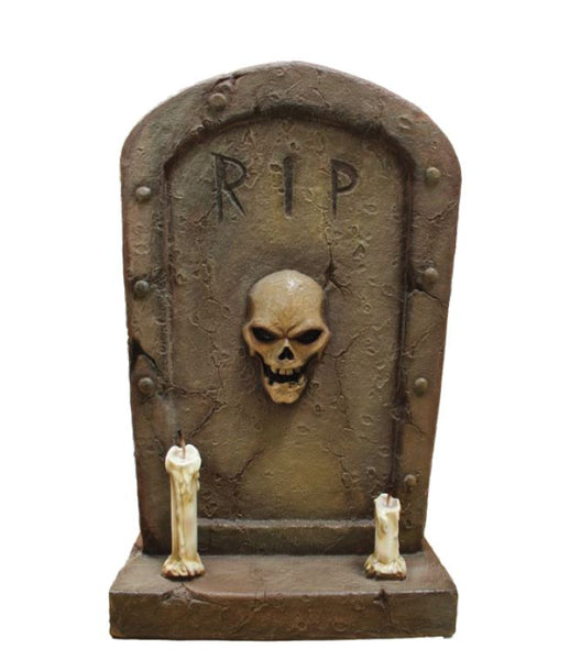 Gravestone 2 candle - LM Treasures Life Size Statues & Prop Rental