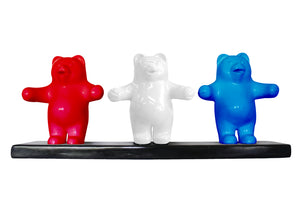Candy Gummy Bear Trio 1 ft Over Sized  Statue - LM Treasures Life Size Statues & Prop Rental