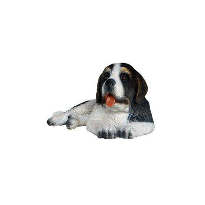 Dog Saint Bernard Puppy Dark Brown Animal Prop Life Size Deecor  Resin Statue - LM Treasures Life Size Statues & Prop Rental