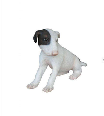 Dog Bull Terrier Puppy Animal Prop Life Size Deecor  Resin Statue - LM Treasures Life Size Statues & Prop Rental