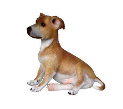 Dog Whippet Puppy Animal Prop Life Size Deecor  Resin Statue - LM Treasures Life Size Statues & Prop Rental