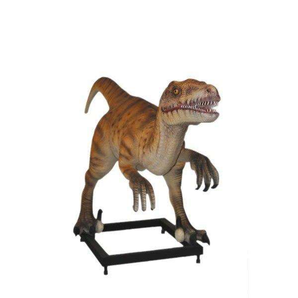 Velociraptor Dinosaur On Base Life Size Statue - LM Treasures Life Size Statues & Prop Rental