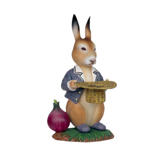 Rabbit With Onion Life Size Statue - LM Treasures