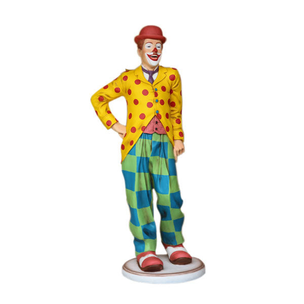 Circus Clown Standing Life Size Statue - LM Treasures Life Size Statues & Prop Rental