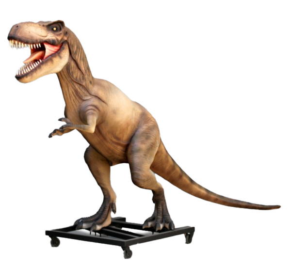 T Rex Dinosaur On Base Life Size Statue - LM Treasures Life Size Statues & Prop Rental