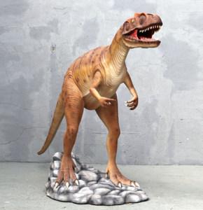 Orange Allosaurus Dinosaur Life Size Statue - LM Treasures