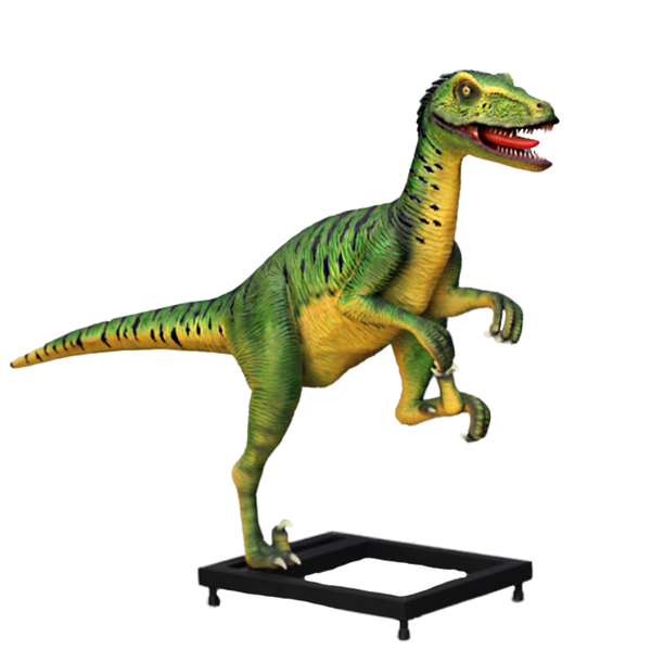 Deinonychus On Base Life Size Statue - LM Treasures Life Size Statues & Prop Rental