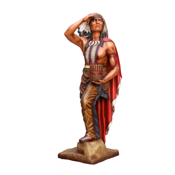 Tobacco Indian Chief Cigar Store Life Size Statue - LM Treasures