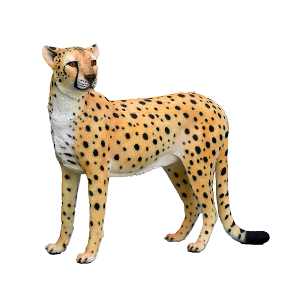 Cheetah Life Size Statue - LM Treasures Life Size Statues & Prop Rental