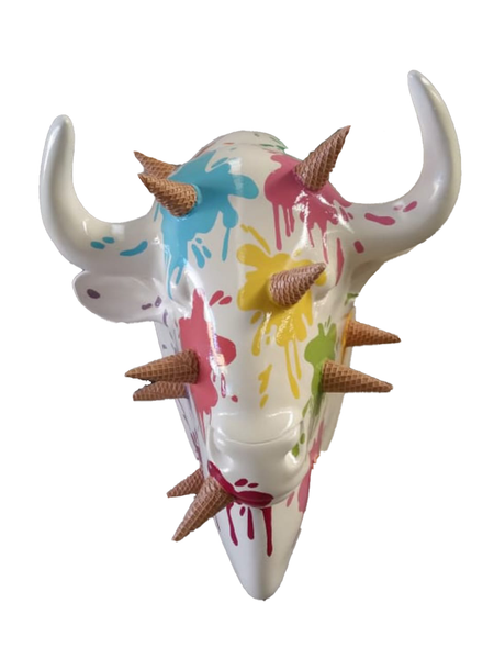 Ice Cream Buffalo Bison Head Life Size Statue - LM Treasures Life Size Statues & Prop Rental