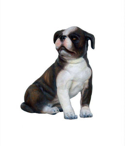 Boston Terrier Puppy Life Size Statue - LM Treasures Life Size Statues & Prop Rental