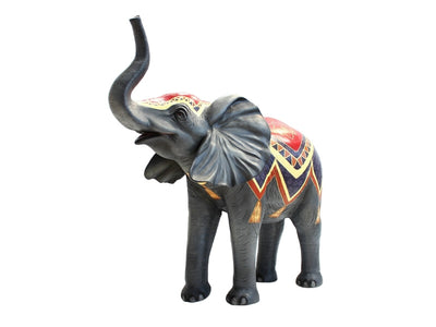 Elephant Baby Standing Trunk Up #2 Circus Life Size Jungle Animal Resin Statue - LM Treasures Life Size Statues & Prop Rental