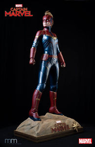New Captain Marvel Life Size Statue - LM Treasures Life Size Statues & Prop Rental