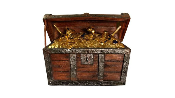 Treasure Chest Life Size Statue - LM Treasures Life Size Statues & Prop Rental