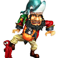 Comic Pirate and Shark Life Size Statue - LM Treasures Life Size Statues & Prop Rental
