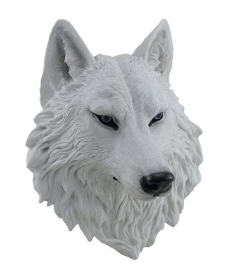 Dog Wild Wolf Head Animal Prop Life Size Decor Resin Statue- LM Treasures