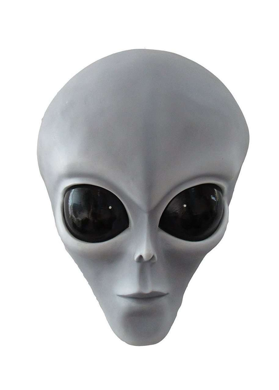 Alien Roswell Bust Space Statue Prop Decor Life Size Resin - LM Treasures