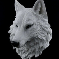 Dog Wild Wolf Head Animal Prop Life Size Decor Resin Statue - LM Treasures Life Size Statues & Prop Rental