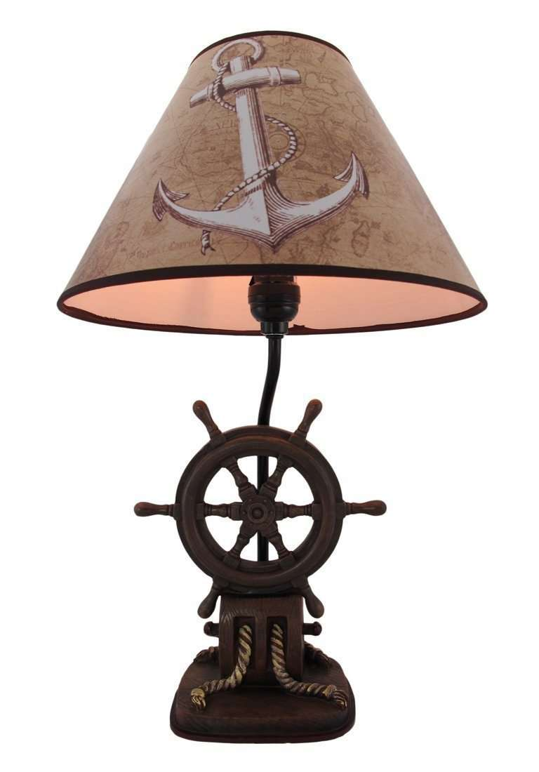Pirate Prop Ship Wheel Lamp Statue Resin Nautical Decor - LM Treasures Life Size Statues & Prop Rental