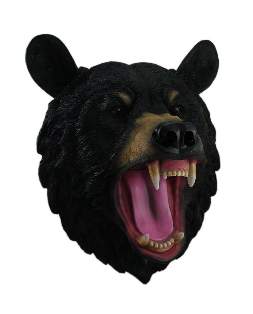 Bear Black Head Forest Prop Life Size Decor Resin Statue - LM Treasures Life Size Statues & Prop Rental