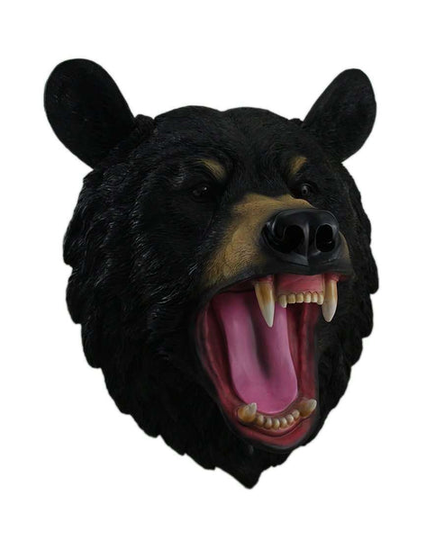 Black Bear Head Life Size Statue - LM Treasures Life Size Statues & Prop Rental