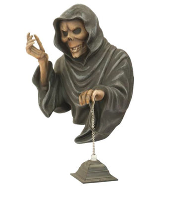 Skeleton with Lantern - LM Treasures Life Size Statues & Prop Rental