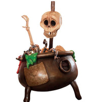 Skeleton Witch Cauldron - LM Treasures Life Size Statues & Prop Rental