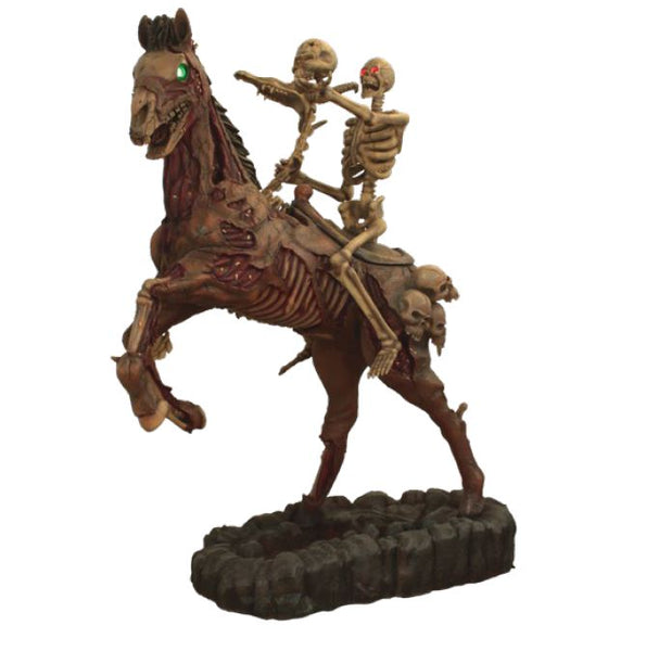 Skeleton Rider And Horse - LM Treasures Life Size Statues & Prop Rental
