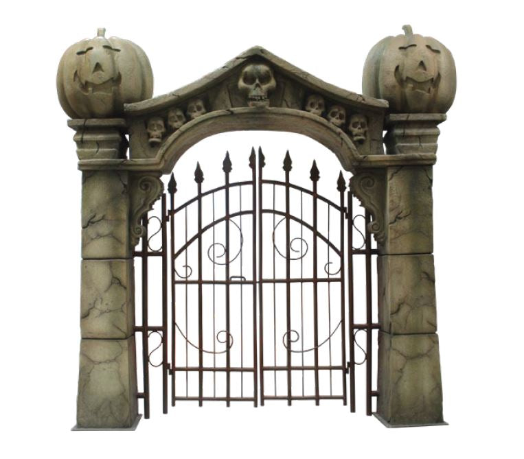 Gate Pumpkin - LM Treasures Life Size Statues & Prop Rental