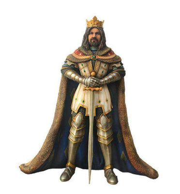 King Arthur Life Size Mythical Prop Decor Resin Statue - LM Treasures Life Size Statues & Prop Rental