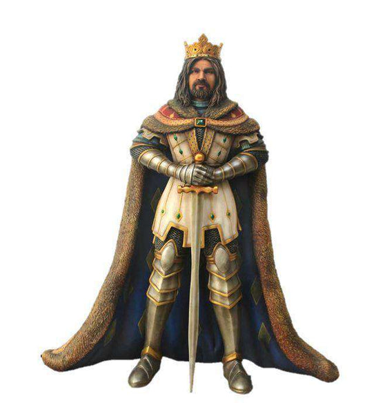 King Arthur Life Size Statue - LM Treasures Life Size Statues & Prop Rental