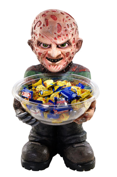 Candy Bowl Holder Halloween Freddy Krueger Half Foam Licensed Statue - LM Treasures