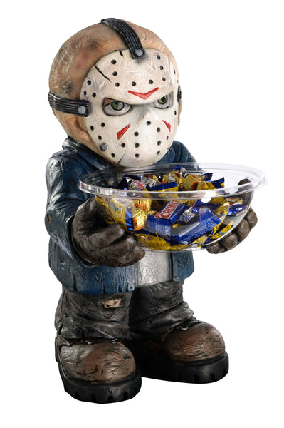 Candy Bowl Holder Halloween Jason Half Foam Licensed Statue - LM Treasures