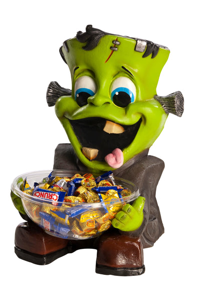 Candy Bowl Holder Halloween Cute Frankie Half Foam Licensed Statue - LM Treasures