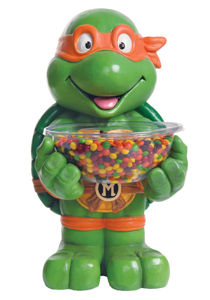 Candy Bowl Holder Warner Brothers Ninja Turtles Michelangelo Half Foam Licensed Statue - LM Treasures