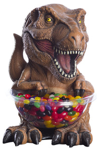 Candy Bowl Holder Jurassic Park T-Rex Mini Brown Half Foam Licensed Statue - LM Treasures Life Size Statues & Prop Rental